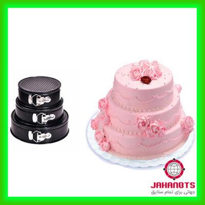 خرید و قیمت قالب کیک کمربندی دایره ای نچسب 3 عددی