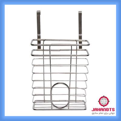 خرید ارزان و قیمت نگهدارنده کیسه و جا نایلونی کابینتی استیل Cabinet bag holder