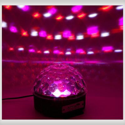 مشخصات خرید و قیمت رقص نور خانگی اسپیکر دار Digital RGB LED Crystal Magic Ball