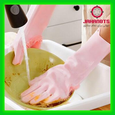 خرید اینترنتی و ارزان دستکش سیلیکونی اسکاچ دار همه کاره Silicone Gloves