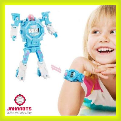 خرید اسباب بازی ربات تبدیل شونده به ساعت مچی مدل ترنسفورمر Deformation Electronic Toy Watch