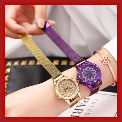 خرید پستی ساعت زنانه نگین دار صفحه چرخشی Chanel (رنگ بندی) - ساعت مچی Chanel مدل Rotation