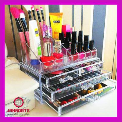 قیمت خرید پستی استند لوازم آرایشی سه کشویی مدل Cosmetic Organizer