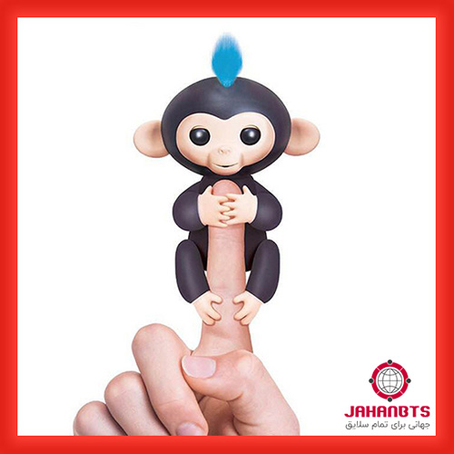 خرید پستی ارزان عروسک طرح میمون انگشتی 2 عددی