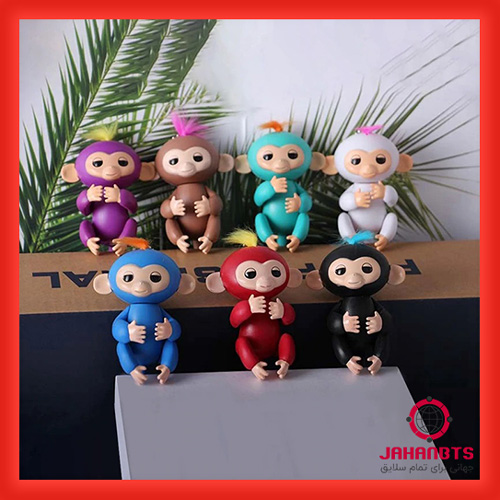 قیمت و خرید اینترنتی عروسک طرح میمون انگشتی (ماکاک رزوس) 2 عددی