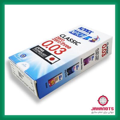 خرید و ارسال محرمانه کاندوم فوق العاده نازک 0.03 میلیمتر ناچ کدکس 12 عددی دو بسته ای