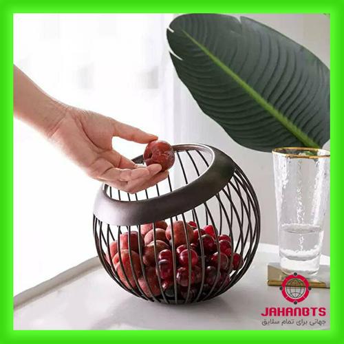 مشخصات و قیمت خرید سبد میوه خوری فلزی لوکسینه مدل کروی
