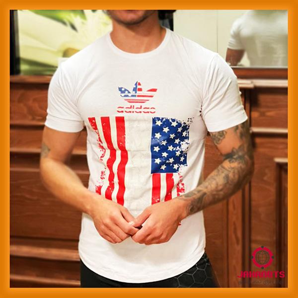 قیمت خرید اینترنتی تیشرت آستین کوتاه مردانه آدیداس طرح پرچم USA