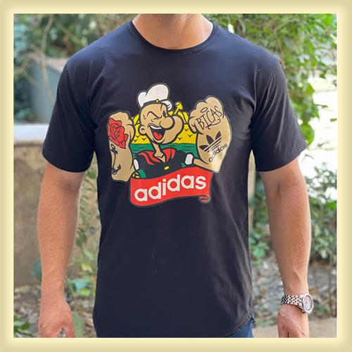 قیمت و خرید اینترنتی تی شرت آستین کوتاه مردانه طرح ملوان زبل