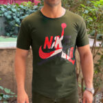 تی شرت مردانه آستین کوتاه نخی نایکی