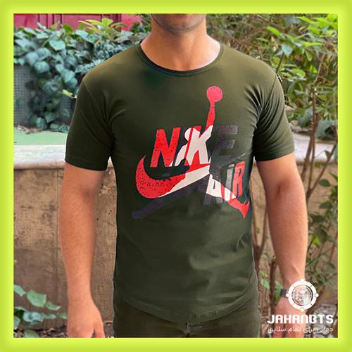 قیمت و خرید پستی تیشرت آستین کوتاه مردانه نایک طرح ARI
