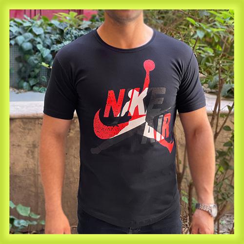 خرید تی شرت مردانه آستین کوتاه مردانه نایکی رنگ سرمه ای