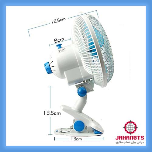 قیمت و خرید پستی پنکه رومیزی و دیواری پایه کلیپسی Hong Jian مدل HJ-180