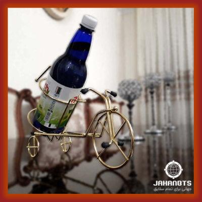 قیمت خرید پستی استند نگهدارنده بطری طرح سه چرخه