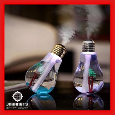 قیمت خرید پستی دستگاه بخور سرد رومیزی طرح لامپ Humidifier USB Lamp