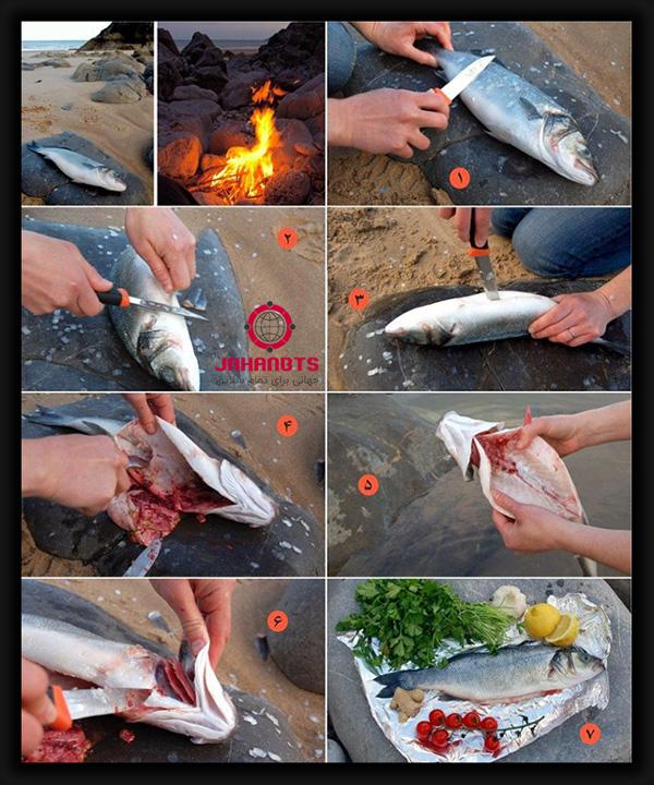 آموزش تمیز کردن ماهی برای کباب کردن