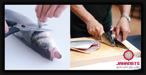 آموزش تصویری پاک کردن ماهی - فیله کردن ماهی به صورت مرحله به مرحله همراه با فیلم