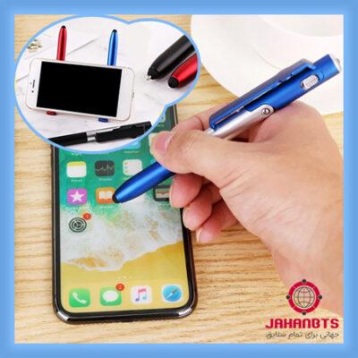 قیمت و خرید قلم لمسی و پایه نگهدارنده موبایل King بسته 2 عددی