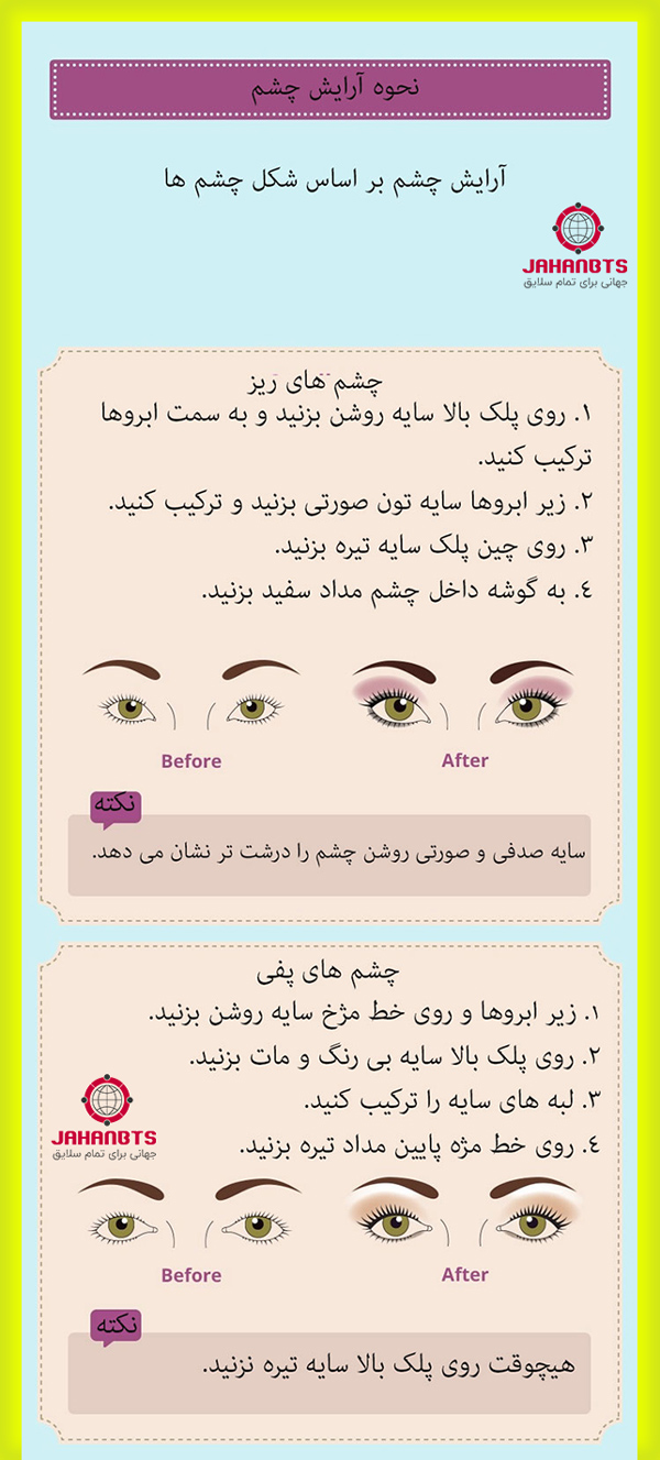 آموزش آرایش و میکاپ حرفه ای صورت براساس رنگ پوست و فرم چهره + اینفوگرافی